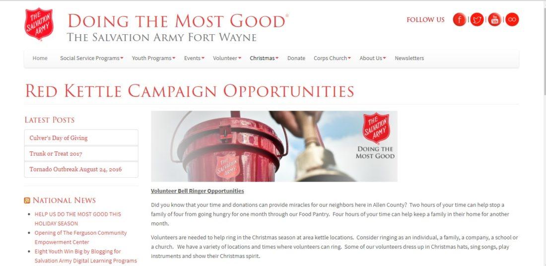 (Screen capture of http://corps.salvationarmyindiana.org/fortwayne/christmas/kettles/)
