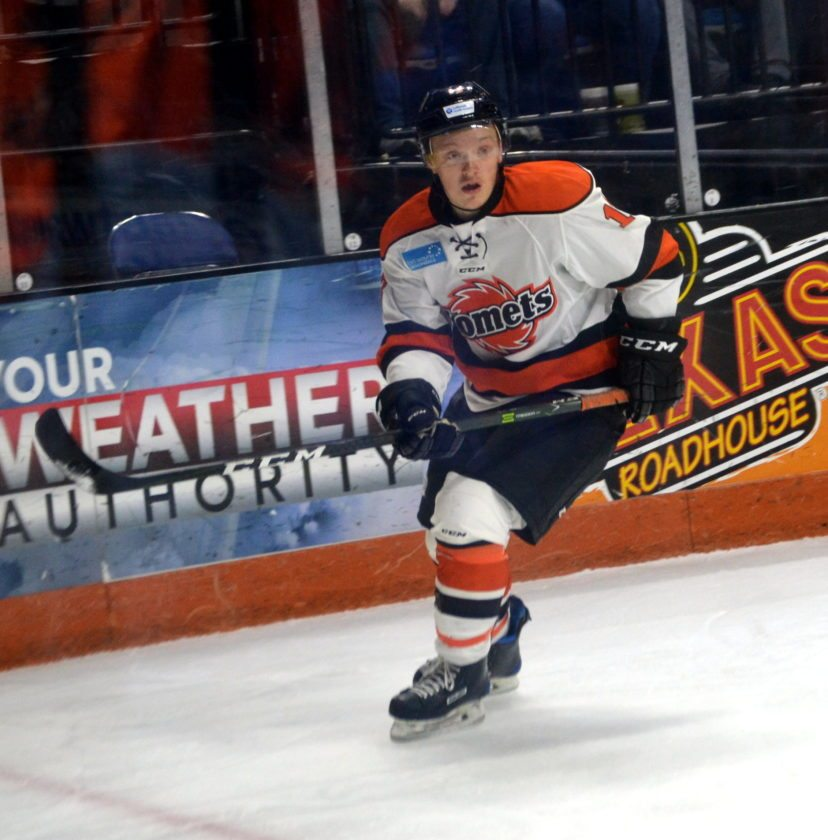 Fort Wayne Komets forward Artur Tyanulin has provided offense and creativity to his team. (By Blake Sebring of News-Sentinel.com)