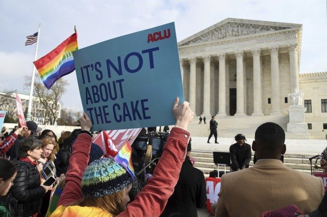 The Supreme Court will decide whether bakers must cater same-sex weddings. But it won't end there. (AP photo)