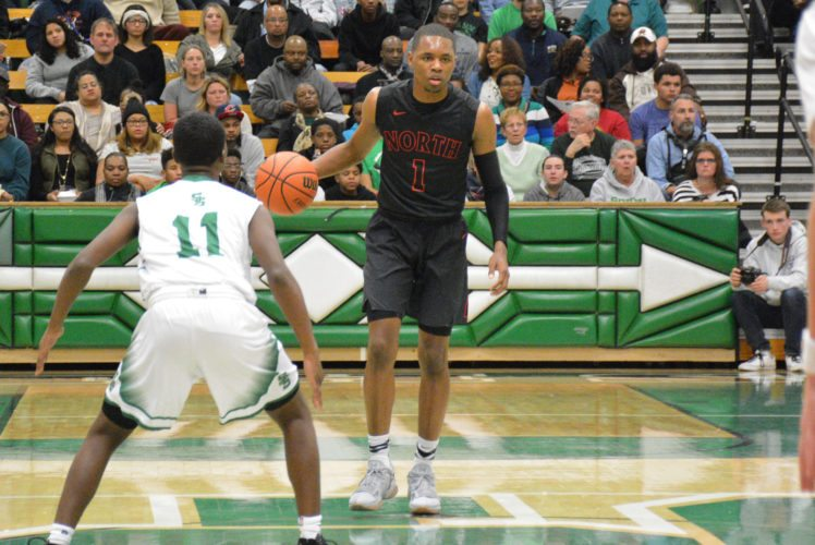 Senior Brandan Johnson and the North Side Legends were blitzed by New Albany on Saturday night. How does North get back on track? (By Dan Vance of news-sentinel.com)