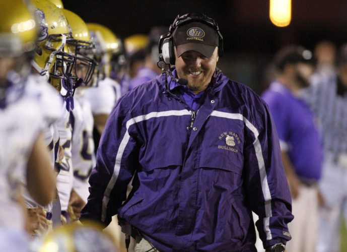 New Haven coach Jim Rowland walks the sideline during a 2010 game. (news-sentinel.com file photo)
