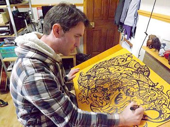 Artist Frank Louis Allen will demonstrate marker drawing 1-4 p.m. Sunday at The Art Studio Holiday Gallery in the former Williams-Sonoma space at Jefferson Pointe shopping center. (Courtesy of The Art Studio Holiday Gallery)