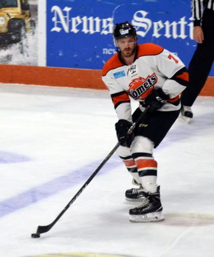 Dan Maggio has thrived for the Komets this season despite playing both forward and defenseman. (By Blake Sebring of News-Sentinel.com)