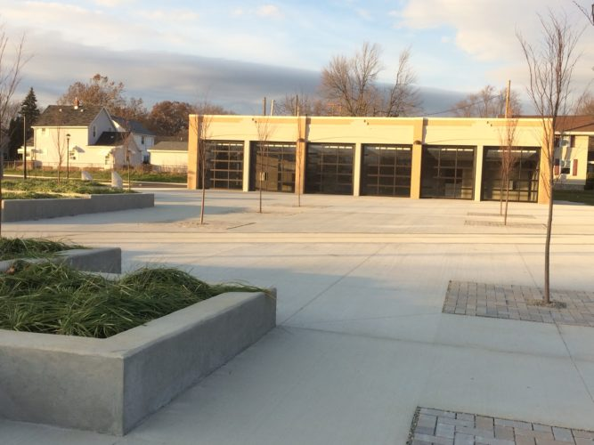The David Hefner Pavilion in the new Franklin School Park is the Fort Wayne Parks and Recreation Department's newest pavilion and one of several available for rental use year-round. (By Kevin Kilbane of News-Sentinel.com)