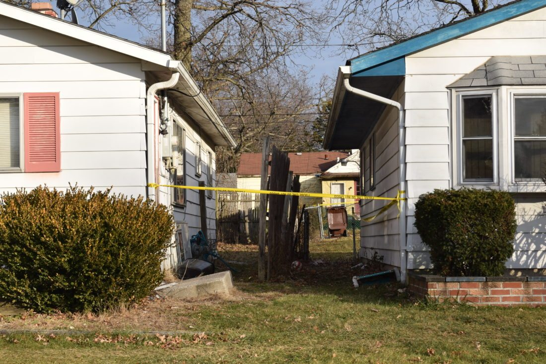 Fort Wayne Police found a man dead with several gunshot wounds Wednesday afternoon in the 5500 block of South Webster Street. (Photo by Lisa M. Esquivel Long of News-Sentinel.com)