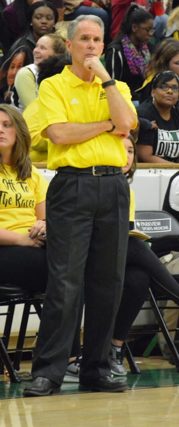 Snider girls basketball coach Greg Friend looks over his team during a game last December. (News-Sentinel.com file photo)