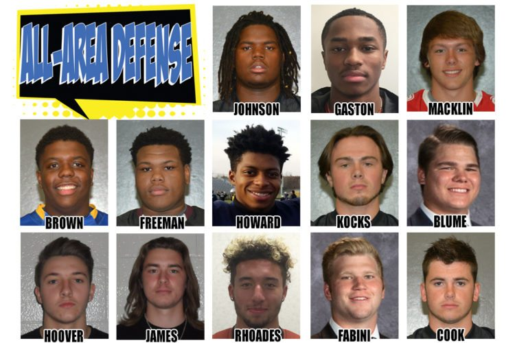 The 2017 News-Sentinel Football All-Area Team defense.