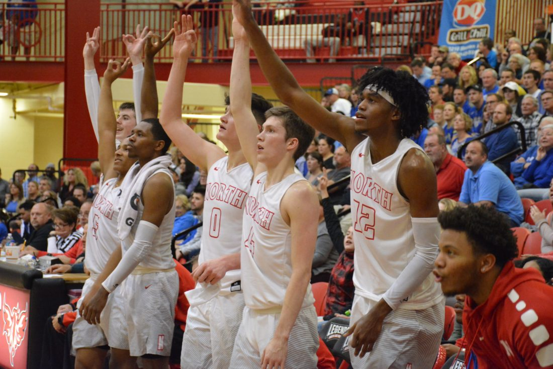 Can North Side play as a team consistently enough to win a fifth-straight SAC Holiday Tournament title? (Photo by Dan  Vance of The News-Sentinel)