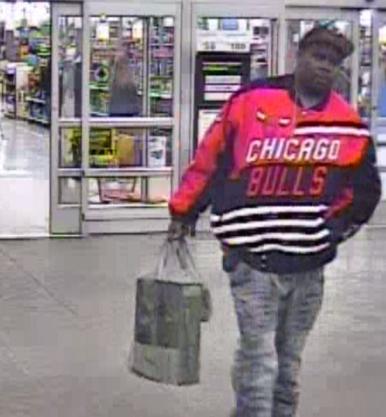 The Fort Wayne Police Department is looking for this man in connection with the use of a credit card taken from victims in a home invasion/kidnapping last week. (Photo courtesy of the Fort Wayne Police Department)