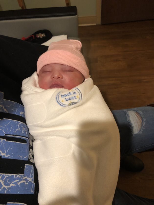 Zaniyah Lanae, born at 3:25 a.m. Monday, is Lutheran Health Network's Baby New Year. (Photo courtesy of Lutheran Health Network)