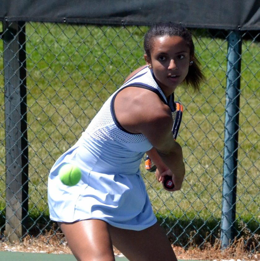 Canterbury tennis star Kyra Foster is spending the year studying and training in Florida. (By Blake Sebring of News-Sentinel.com)