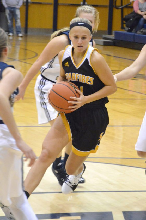 South Adams senior Lexi Dellinger during a November 11, 2017 game at Norwell. (Photo by Dan Vance of news-sentinel.com)