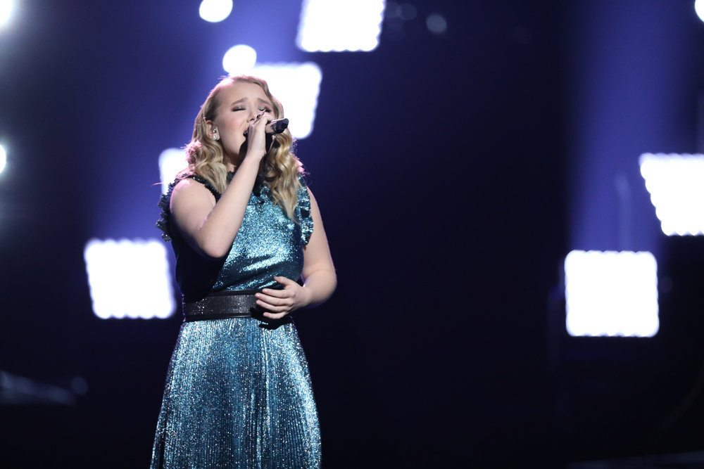 "Fort Wayne's Addison Agen, who finished as runner-up last month on the TV show ""The Voice,"" will perform two sold-out concerts Jan. 21 at the Embassy Theatre and at a benefit concert Feb. 17 for local public radio station WBOI, 89.1-FM. (Photo by Tyler Golden/NBC)"