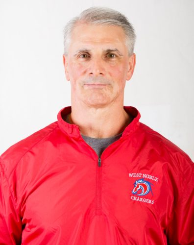 West Noble High School girl's basketball coach Dale Marano