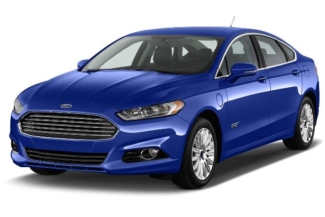 A man reported the blue Ford Fusion he was driving, similar to the one pictured, was stolen by two men at gunpoint Thursday night. (Courtesy photo)
