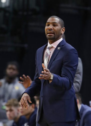 Butler University men's basketball coach LaVall Jordan calls a play during the second half of a recent game against Purdue in Indianapolis. Purdue won 82-67. (By The Associated Press)