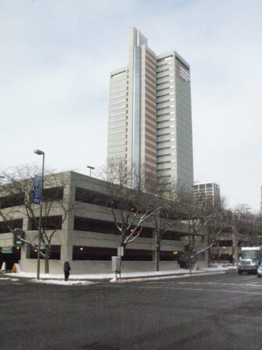 When 400 SIRVA employees moved into the 27-story Indiana Michigan Power Center recently, their use of the adjacent garage created a daytime parking challenge in downtown Fort Wayne. Officials are considering expanding the city-owned garage as a result. (Photo by Kevin Leininger of The News-Sentinel)