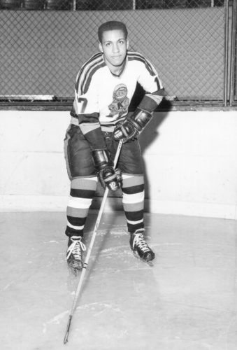 Alton White was the first black player to play for the Komets. (Courtesy photo)