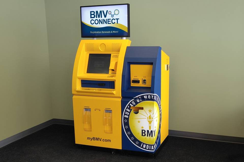 Indiana Bureau of Motor Vehicles Connect Centers in three Fort Wayne branches give 24-hour access to about a dozen types of transactions. (Photo courtesy of BMV's Facebook page)