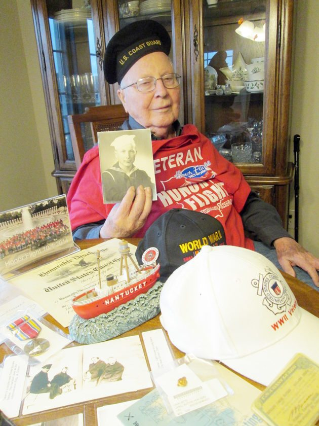 Bernard James Havens, former Coast Guard radio man during WWII. (Photo by Kayleen Reusser for The News-Sentinel)