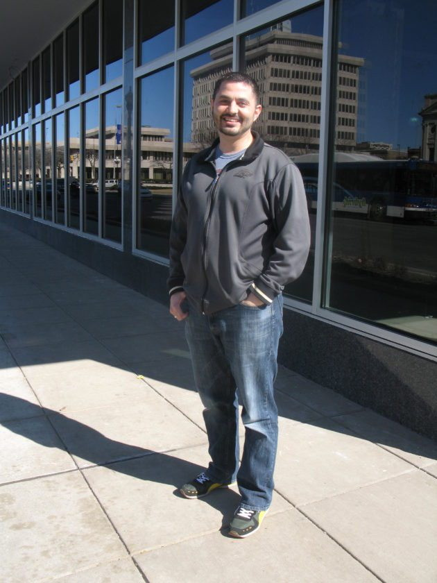 James Bashir Khan stands in front of the southwest corner of the Anthony Wayne Building, where he and his partners opened  The Hoppy Gnome. They have several services going into Ash Skyline Plaza, where their Latin American restaurant, Proximo, is planned to go in this spring. (News-Sentinel.com file photo)