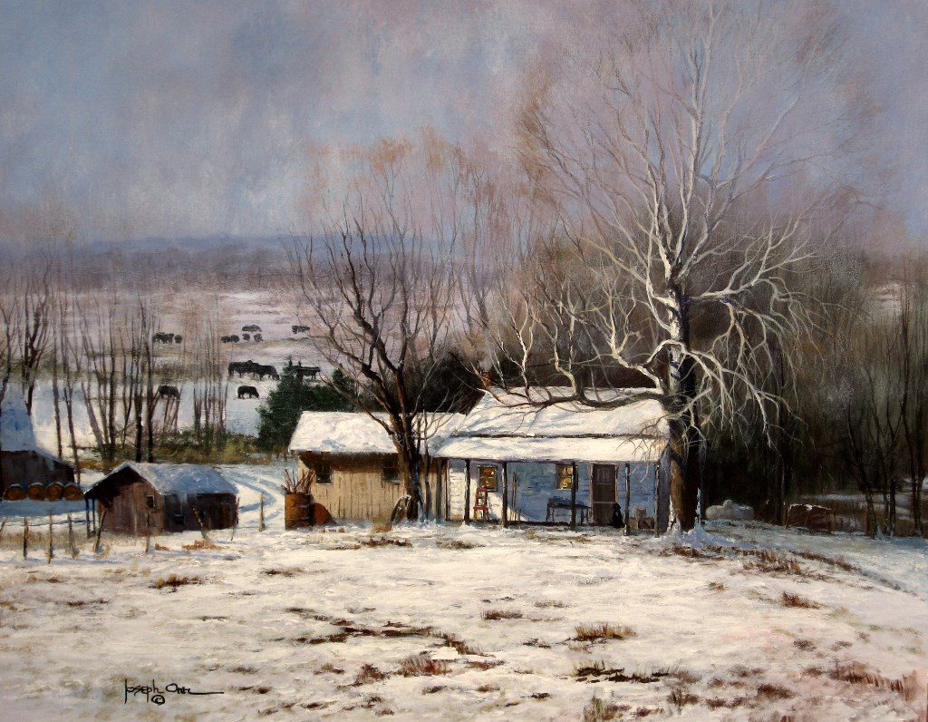 "The painting ""Waiting for Spring,"" by Joseph Orr, is among those on display as part of the ""Winter Reflections"" show now through Feb. 3 at Castle Gallery in Fort Wayne. (Courtesy photo)"