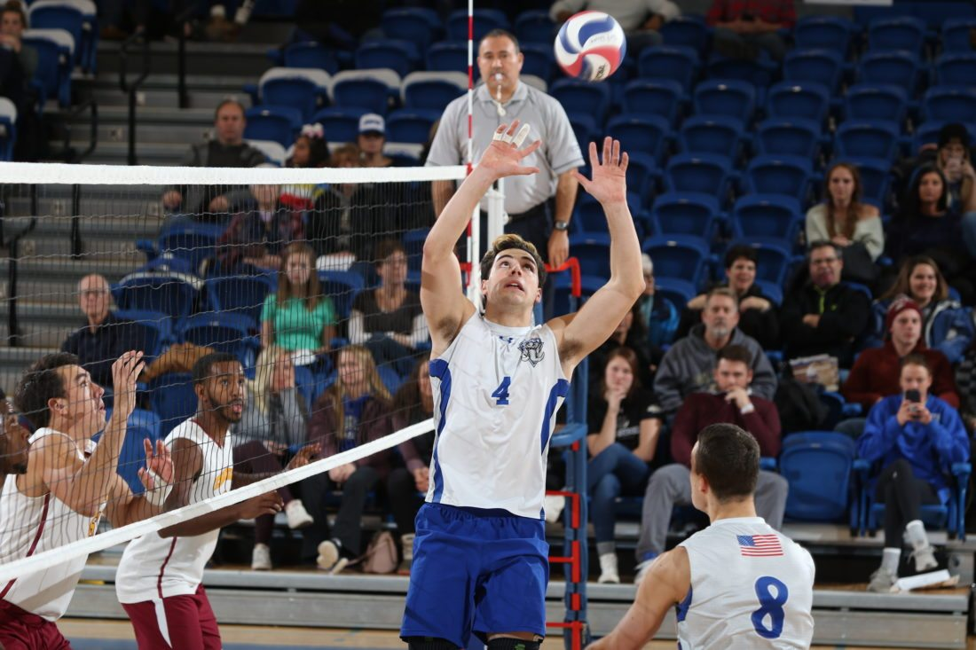 The improvement of junior setter Michael Keegan is one reason why the Fort Wayne men's volleyball team is off to a 7-0 start. (By Aaron Suozzi/Fort Wayne Athletics)