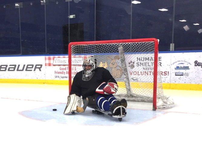 Turnstone Flyers goaltender Gary Hurt during  a recent practice. (Photo courtesy of Matt Whitney)