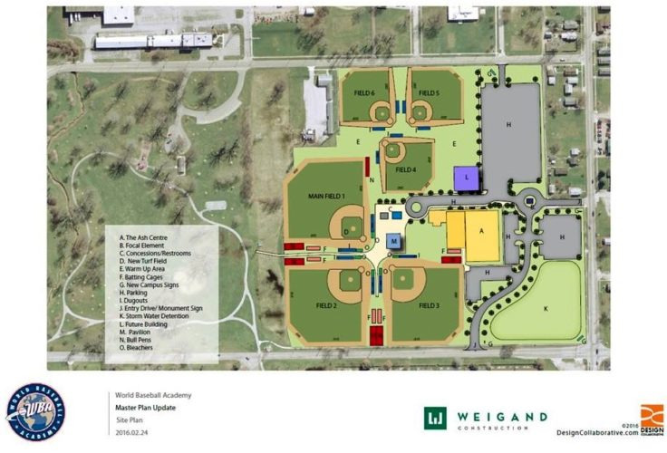 The World Baseball Academy was dedicated in October and will begin hosting games this year. (Courtesy image)