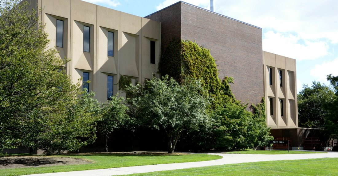 Indiana University will lease space in Neff Hall after IPFW splits into separate IU and Purdue programs this summer. Purdue has advertised for construction bids to renovate portions of of Neff Hall for IU use. (News-Sentinel.com file photo)