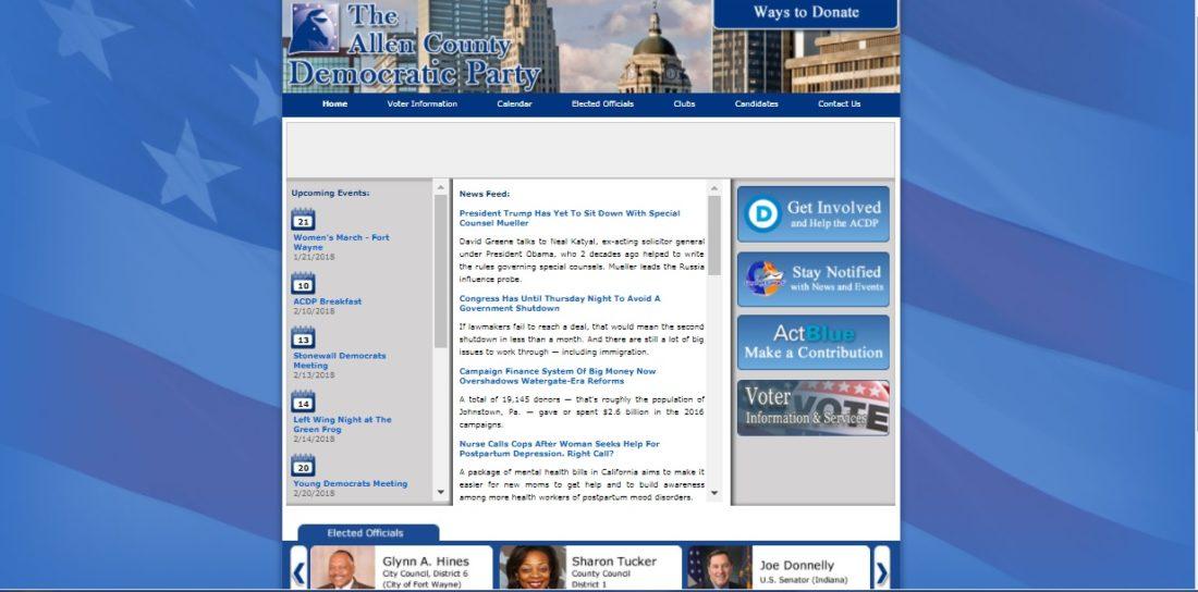 (Screen capture of http://www.allencountydemocrats.org)