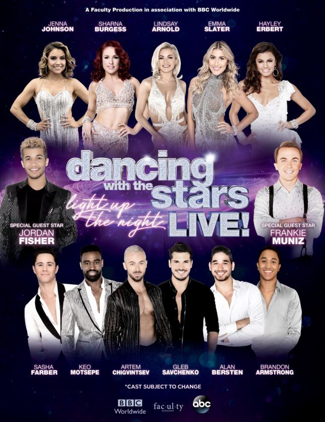 """""""Dancing With the Stars: Live"""" performers. (Photo courtesy of the Embassy Theatre)"""