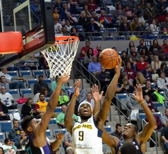 Exciting players like C.J. Fair have helped the Mad Ants increase attendance to almost 3,000 players per game. (By Blake Sebring of News-Sentinel.com)