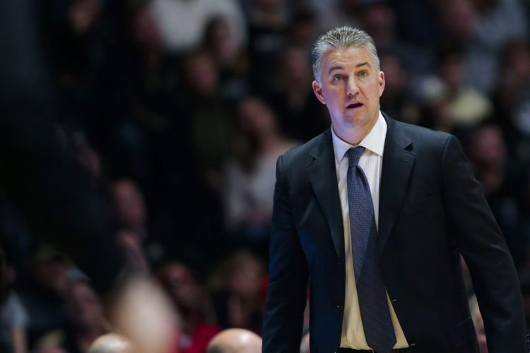 Purdue men's basketball coach Matt Painter watches as his team plays Ohio State during the second half of a recent game in West Lafayette. (By The Associated Press)