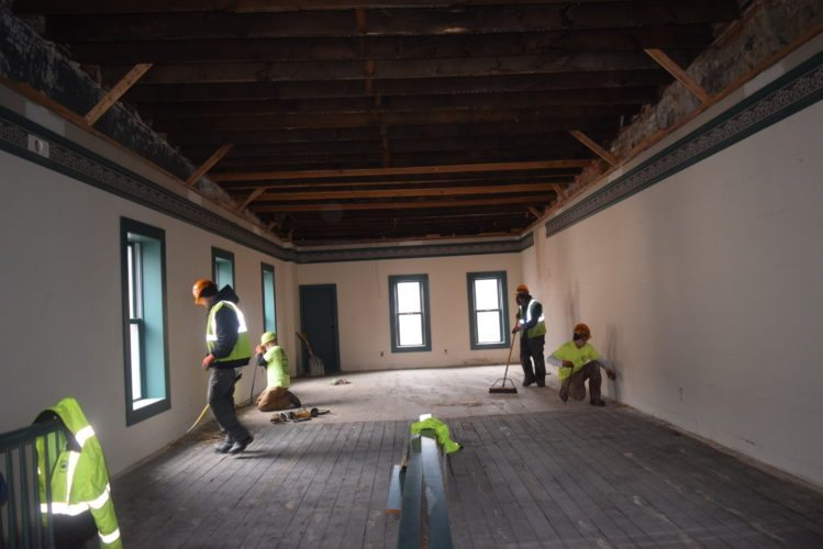 The Model Group is turning this third story of 131 W. Columbia St. into residential space. (Photo by Lisa M. Esquivel Long of News-Sentinel.com)