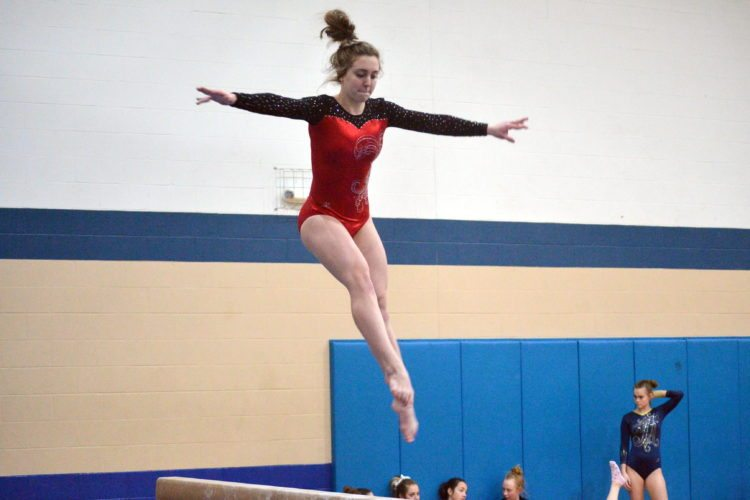 Stephanie Lee will be the lone Bishop Luers gymnast competing at the Concordia Sectional at Noon Saturday. (By Blake Sebring of News-Sentinel.com)