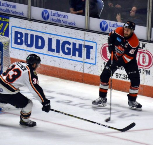 Komets' captain Jamie Schaafsma has done a good job switching between forward and defenseman. (By Blake Sebring of News-Sentinel.com)