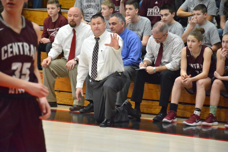 There is no doubt in Shooter's mind that the guy who is taking his team to the state finals, Central Noble's Josh Treesh, is the coach of the year. (Photo by Dan Vance of news-sentinel.com)