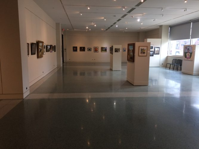 "The exhibit ""The Art of Fort Wayne"" continues through Sunday in the Jeffrey R. Krull Gallery at the downtown Allen County Public Library, 900 Library Plaza. Hours are 9 a.m.-9 p.m. Mondays-Thursdays, 9 a.m.-6 p.m. Fridays and Saturdays, and noon-5 p.m. Sundays. Free admission. (By Kevin Kilbane of News-Sentinel.com)"