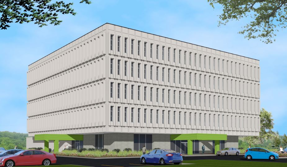 The long-vacant office building at 2827 Rupp Drive, will be redeveloped into apartments after all. (Photo by Kevin Leininger of The News-Sentinel.com)