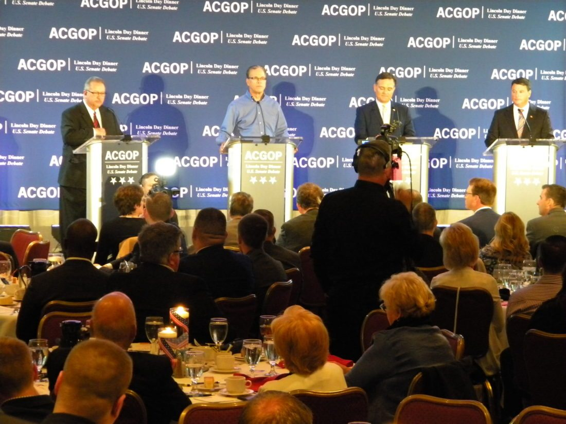GOP senatorial candidates debate tonight