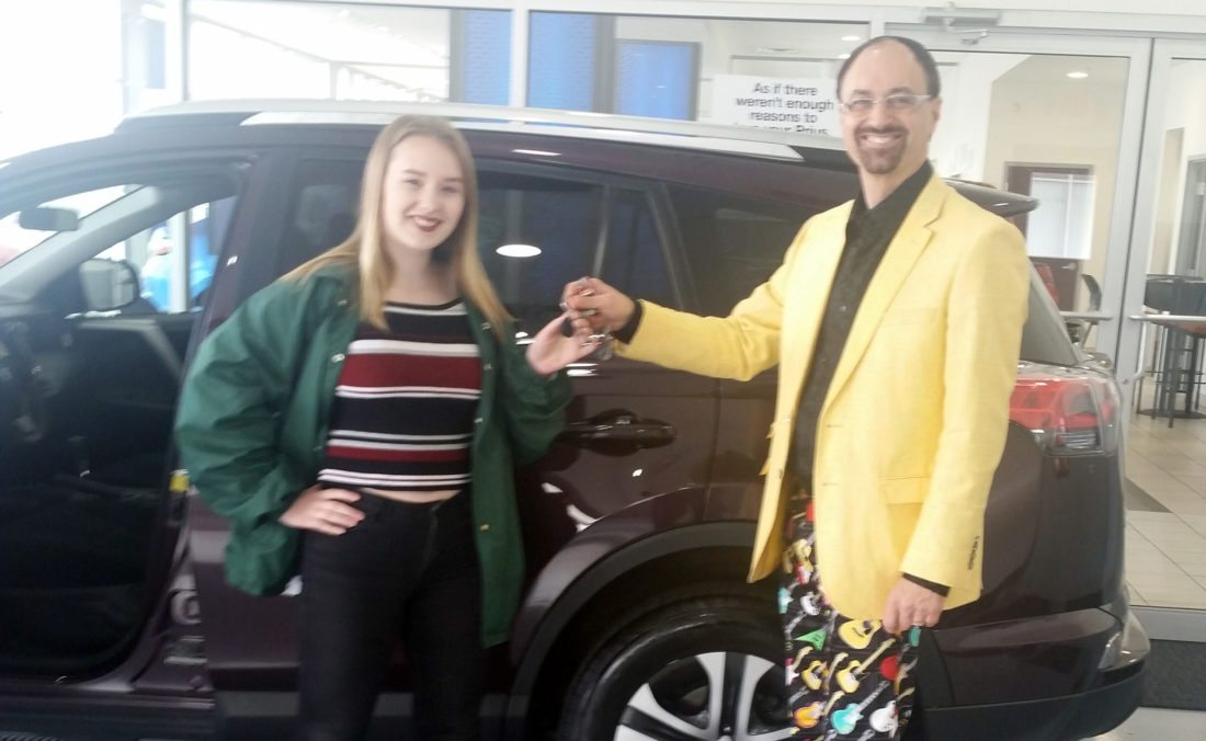 Fort Wayne S Addison Agen Picks Up The Car She Won On The Voice