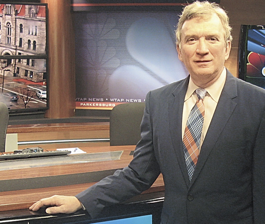 Photo Provided Roger Sheppard, who retired as vice president and general manager of WTAP on Friday, in the studios of the Parkersburg TV station. Sheppard was promoted April 2000 and will be succeeded by Ken Long.