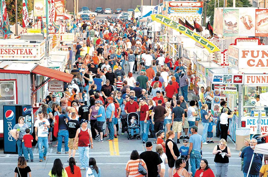 For the first time in 35 years, the Parkersburg Homecoming Festival in August will be held on only two days, on Friday and Saturday. Sunday has been dropped from the schedule, officials said. This photo is from the Friday opening night in 2013. (File Photo)
