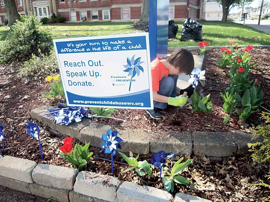 Wv colored childrens home - Photo Provided Kaleb Neal A Third Grader Plants A Pinwheel In The Freshly