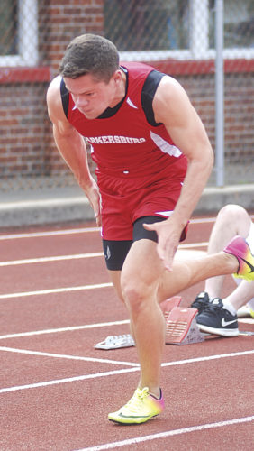 Parkersburg High School's Logan Wooddell will continue his track and field career at the University of Charleston for Golden Eagle head coach Nick Bias. Photo by Jay W. Bennett.