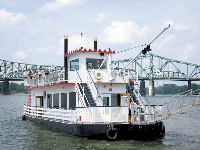 File Photo Beginning May 2, the Island Belle sternwheeler will transport visitors between Point Park and Blennerhassett Island Historical State Park on Tuesday through Sunday.