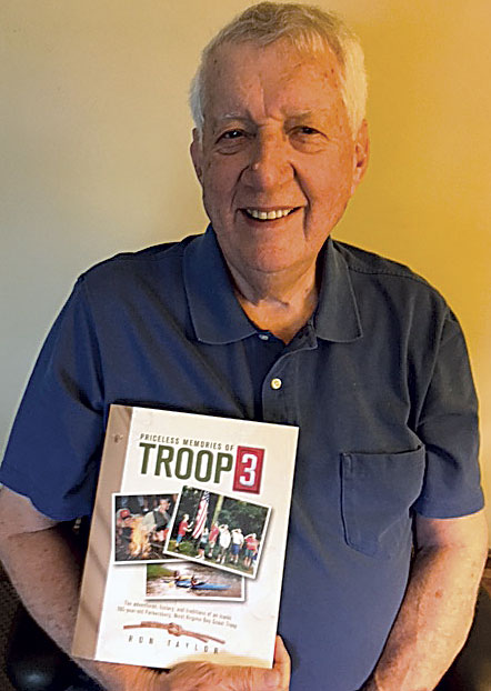 "Photo Provided Author Ron Taylor with his newly released book, ""Priceless Memories of Troop 3,"" that traces 100 years of adventures, history and traditions of his iconic Boy Scout troop in Parkersburg."
