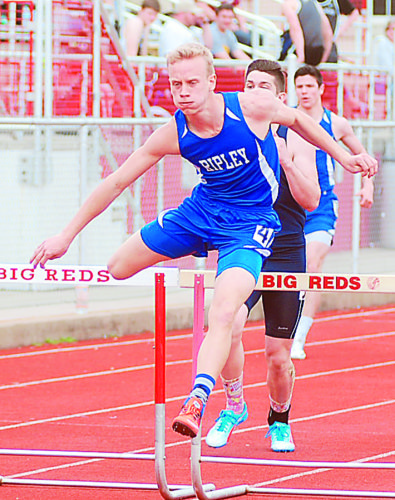 Photo by Jay W. Bennett Ripley High School's Ridge Dalrymple is expected to compete for Class AAA high-point scoring honors at the state track meet, which begins this afternoon at the University of Charleston Stadium.