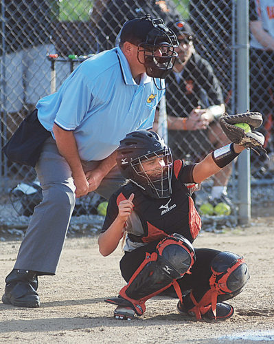 Photo by Jay W. Bennett Wirt County junior catcher Skylar Bogan was selected as the Little Kanawha Conference's softball player of the year. It was the third consecutive season the Tiger made the all-LKC first team.